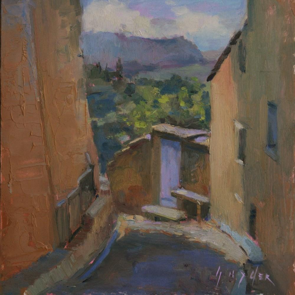 """View From the Top, Gordes"" original fine art by Julie Snyder"