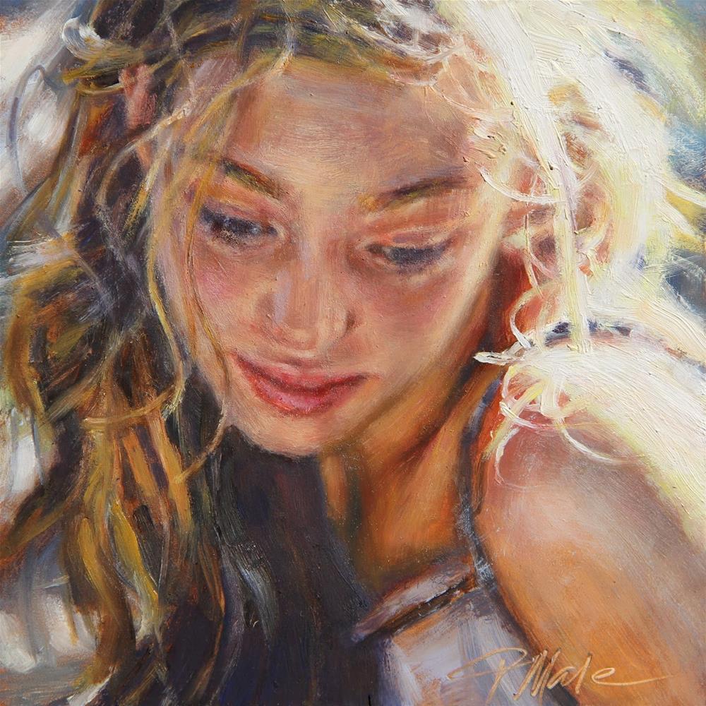 """Ponder"" original fine art by Tracy Male"