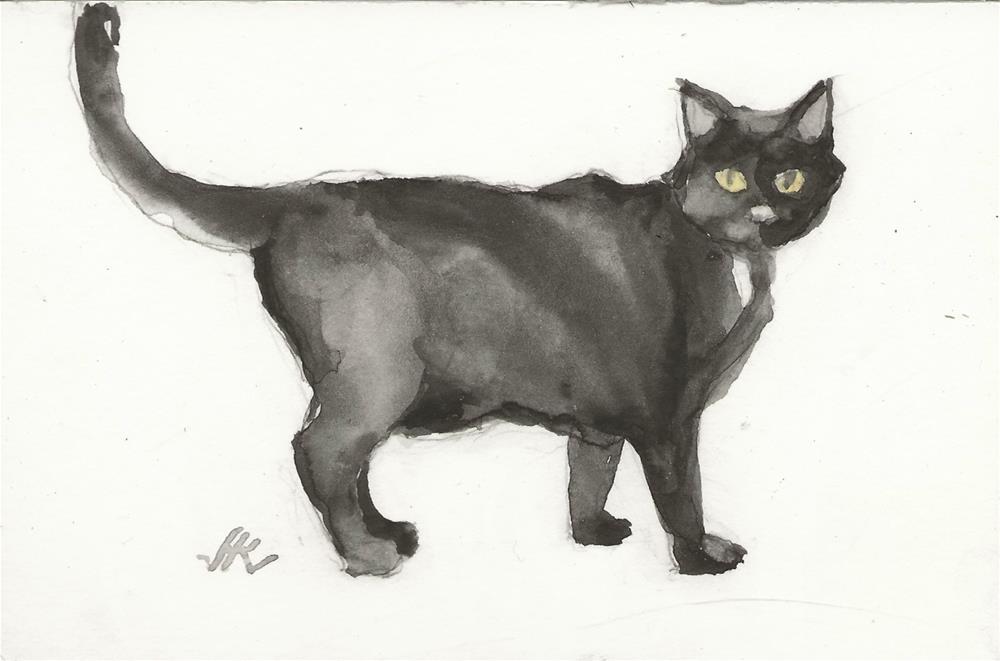 """Daily Cat 131"" original fine art by Jean Krueger"