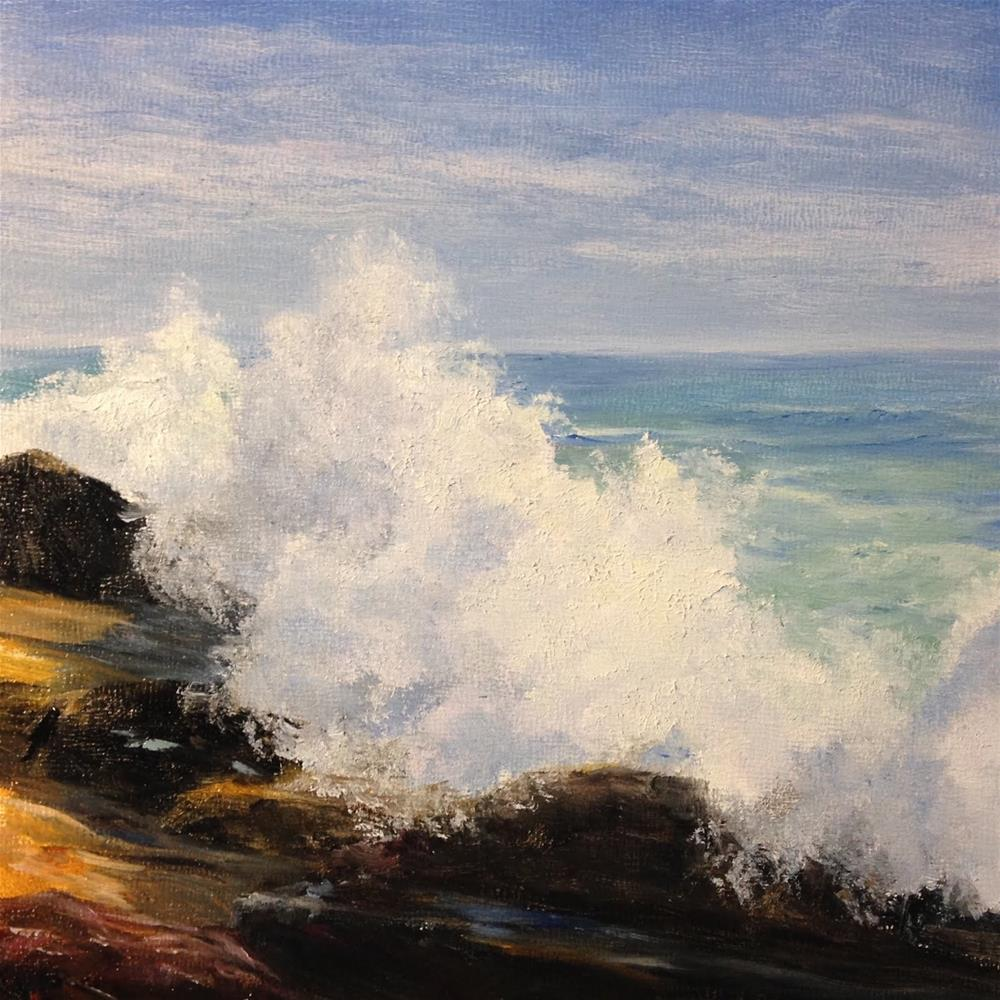 """Surf at Ocean Point"" original fine art by Judith McKenna"