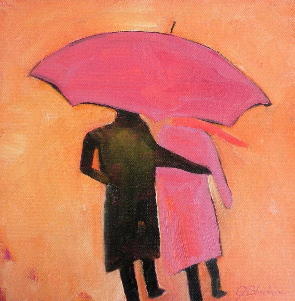 """She Likes To Match"" original fine art by Janet Bludau"