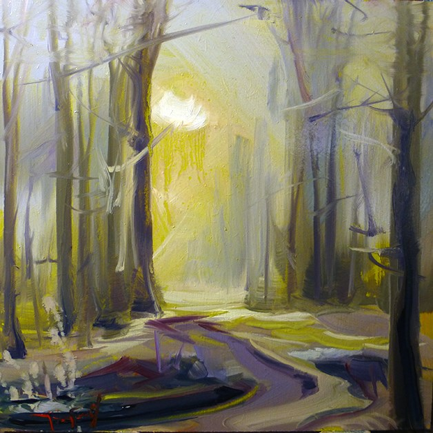 """Waldweg"" original fine art by Jurij Frey"