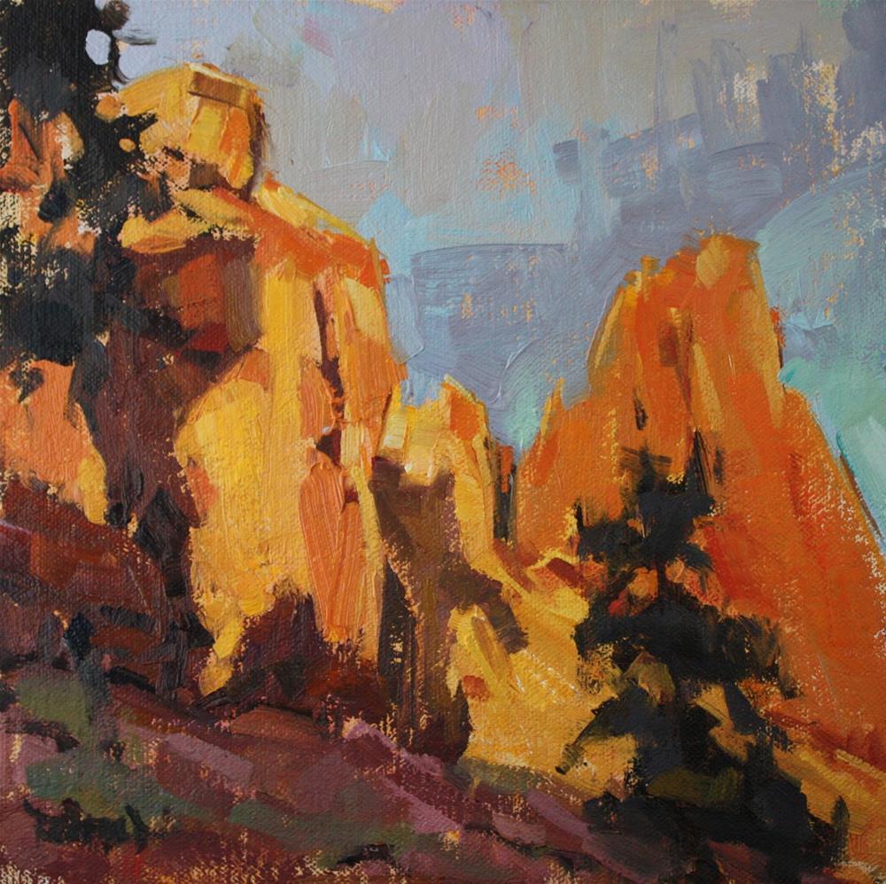 """Smith Rocks Shadows"" original fine art by Cathleen Rehfeld"