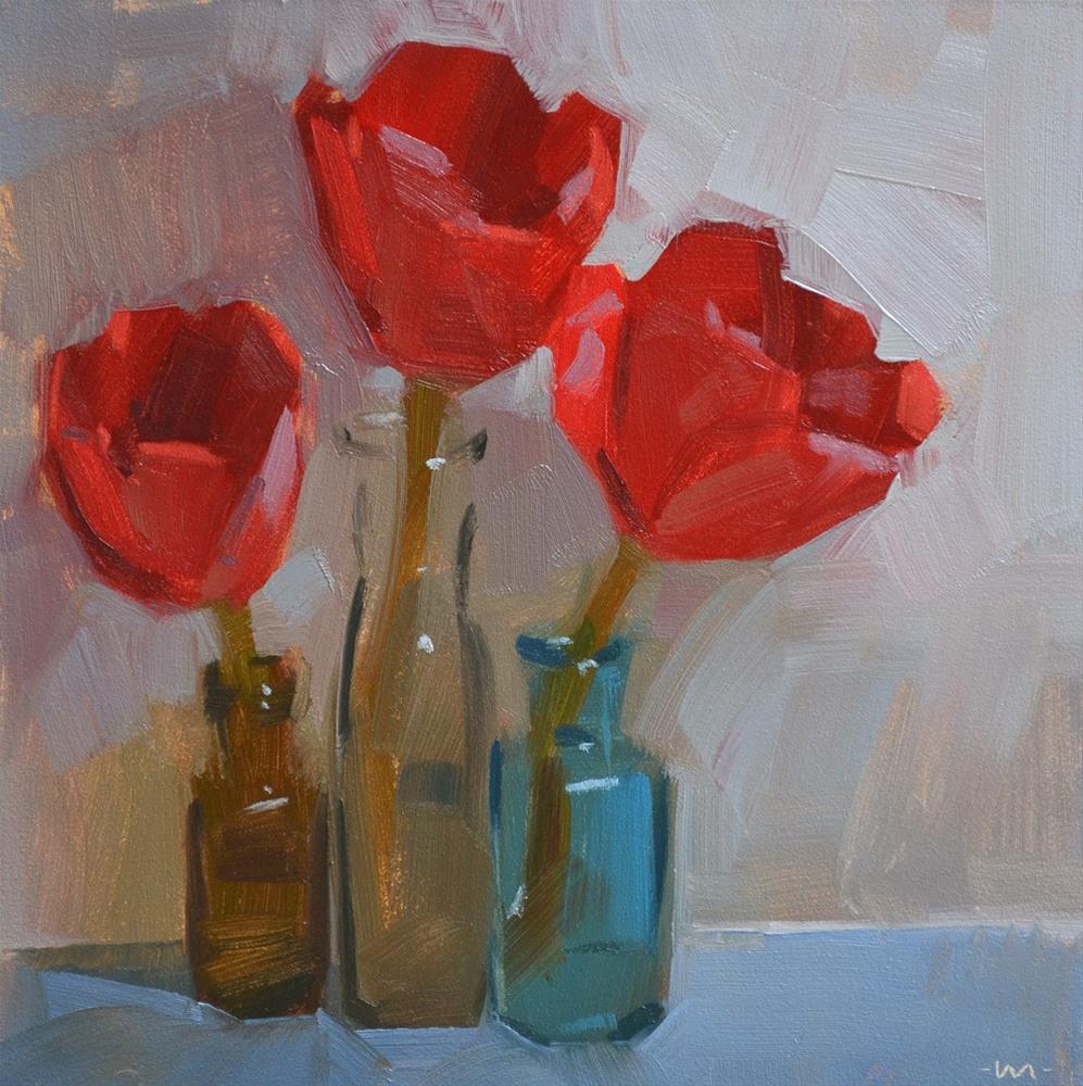 """Tulips By Moonlight"" original fine art by Carol Marine"