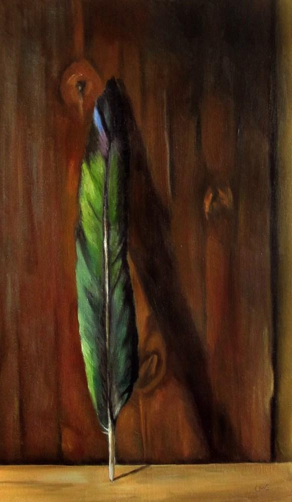 """""""Magpie Feather"""" original fine art by Ulrike Miesen-Schuermann"""
