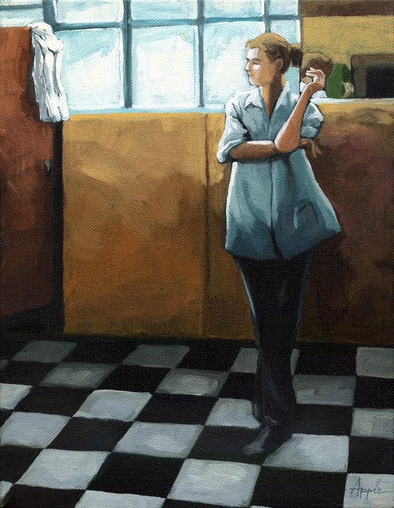 """Breaktime"" original fine art by Linda Apple"