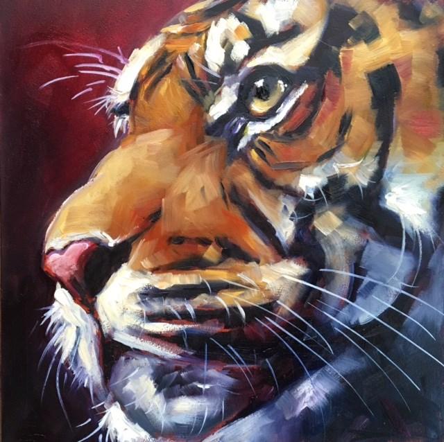 """KING"" original fine art by Olga Wagner"