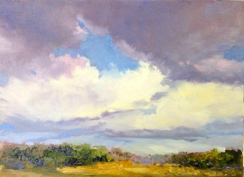 """""""Rain In The Afternoon"""" original fine art by Cathy Boyd"""