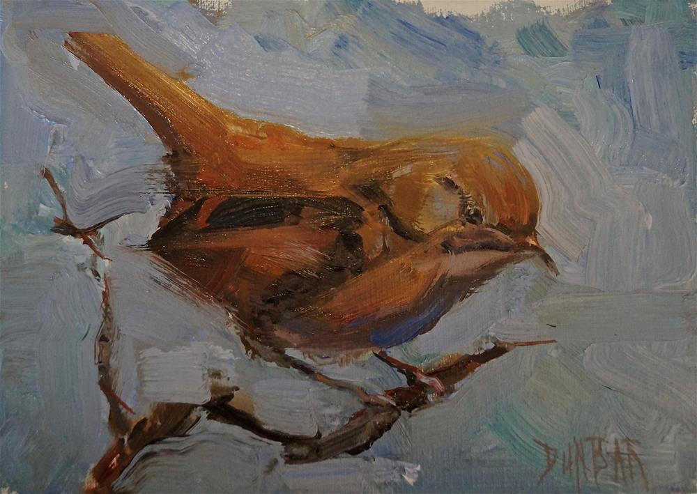 """The Finch"" original fine art by Linda Dunbar"