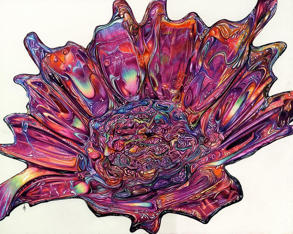"""Glass Flower"" original fine art by Valorie Sams"