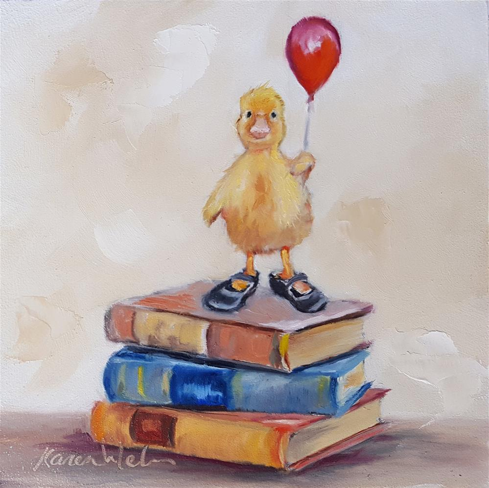 """Dixie Chick Goes to School"" original fine art by Karen Weber"