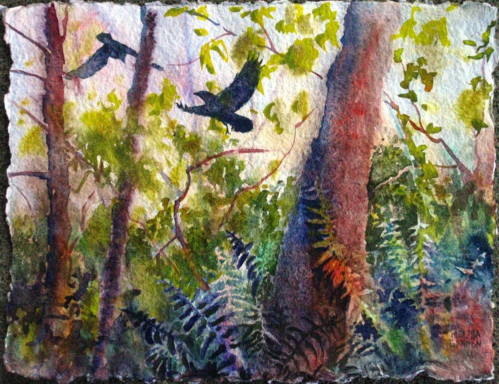 """Adventures in the Woods"" original fine art by Melissa Gannon"