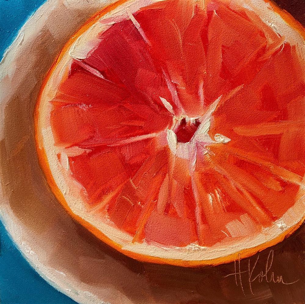 """Grapefruit"" original fine art by Hallie Kohn"