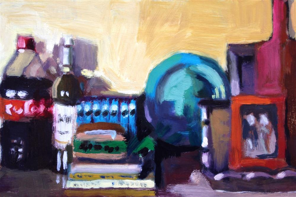 """""""Crowded Kitchen Counter/Favorite Things"""" original fine art by Pamela Hoffmeister"""