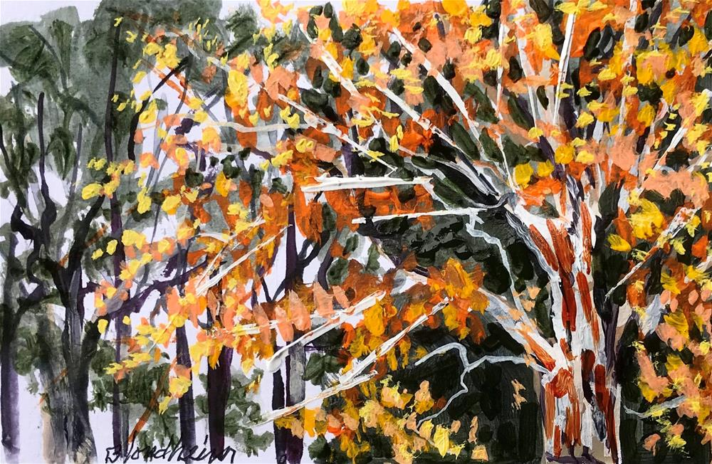 """ Fall Glory"" original fine art by Linda Blondheim"