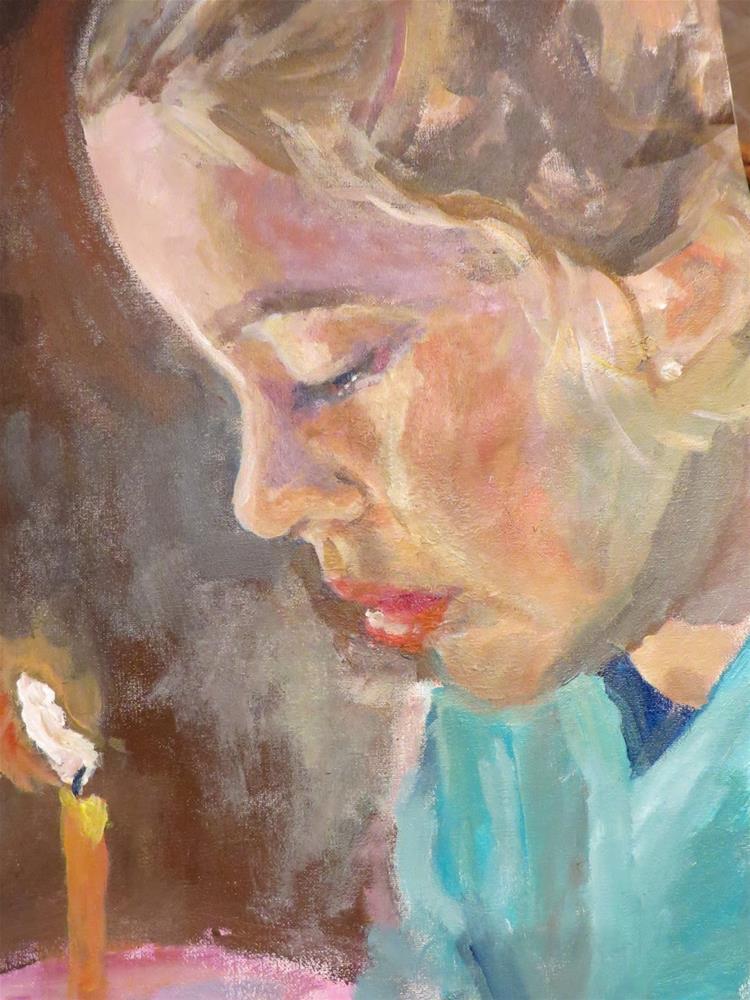 """729 Make a Wish"" original fine art by Diane Campion"