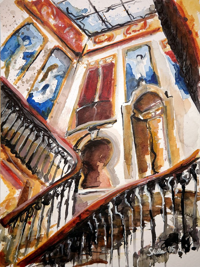 """""""1264 Palacete Ribeiro de Cunha"""" original fine art by Dietmar Stiller"""