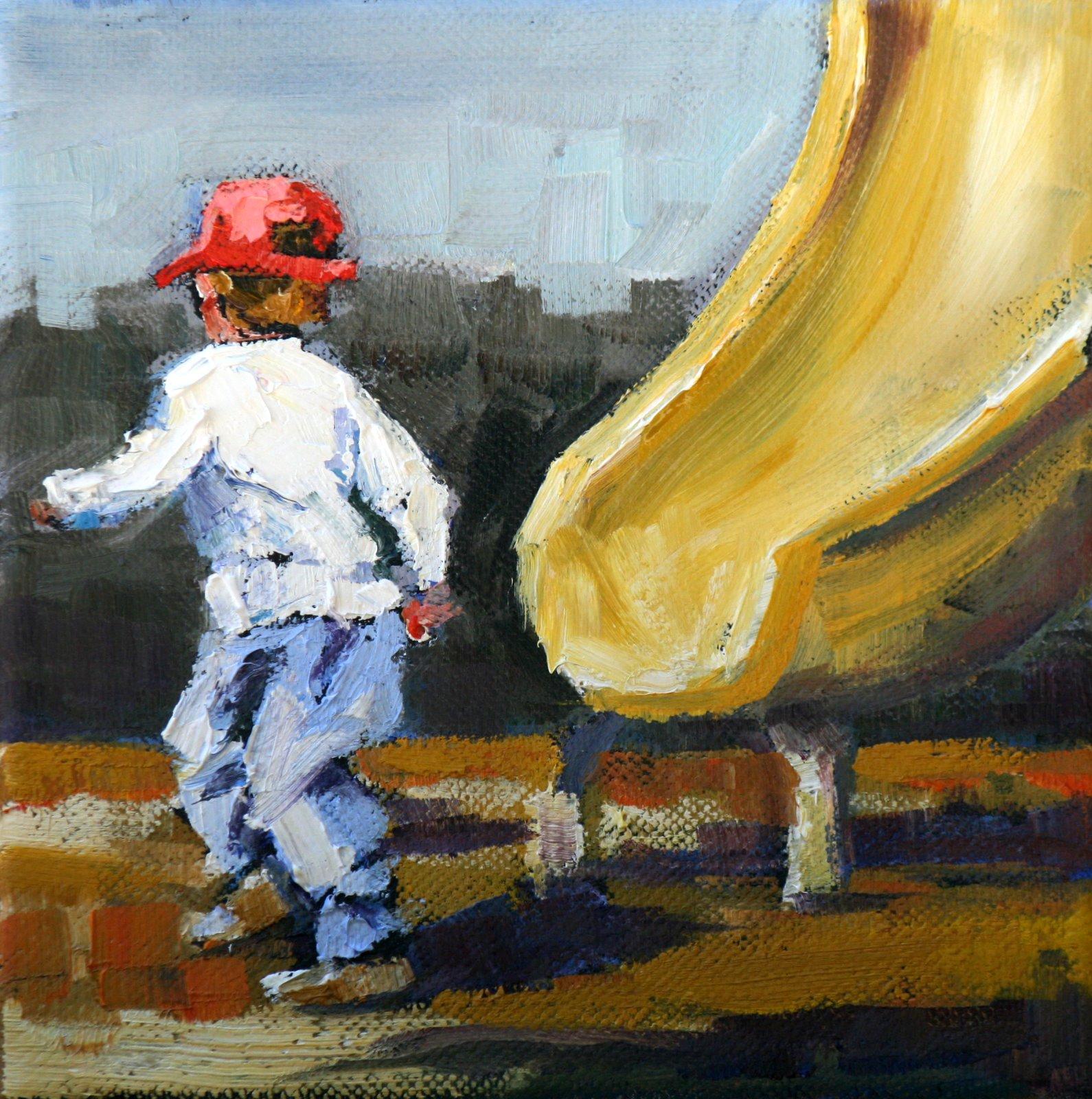 """whee"" original fine art by Carol Carmichael"