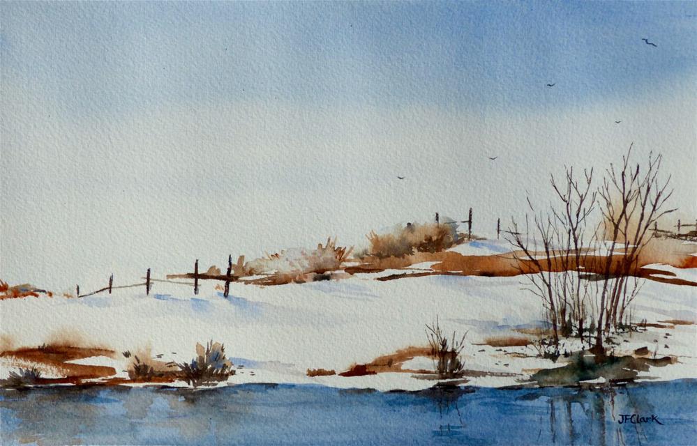 """""""Prairie Winter"""" original fine art by Judith Freeman Clark"""