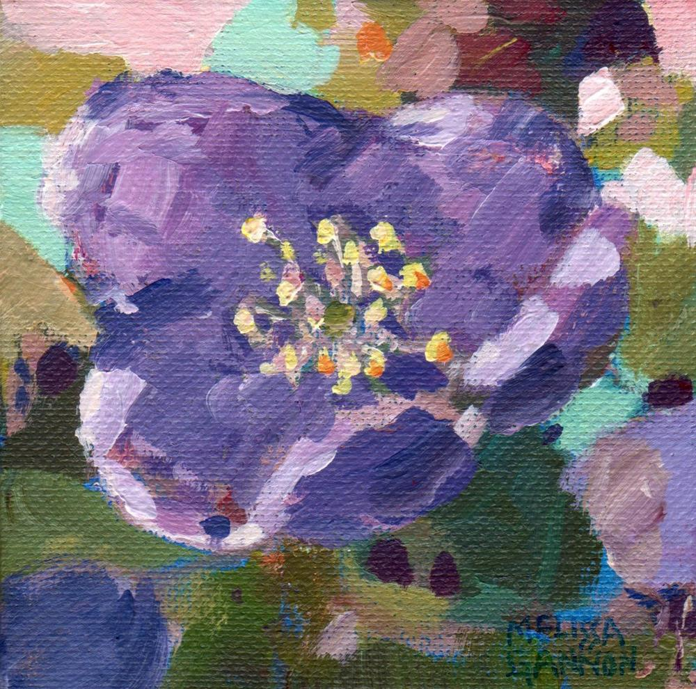 """Purple Hellebore"" original fine art by Melissa Gannon"