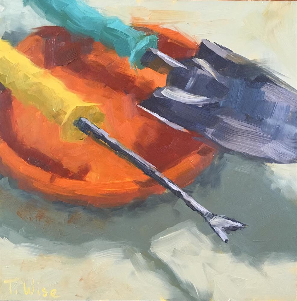 """Dandelion Dispatcher"" original fine art by Tracy Wise"