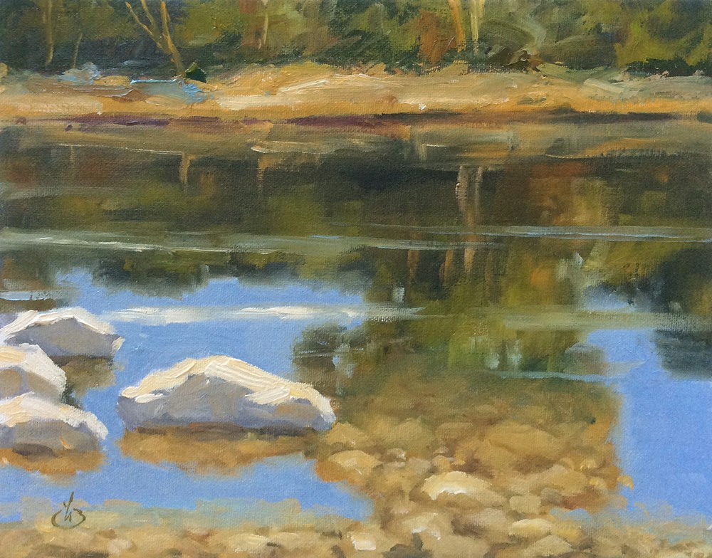 """""""REFLECTING ON NATURE"""" original fine art by Tom Brown"""
