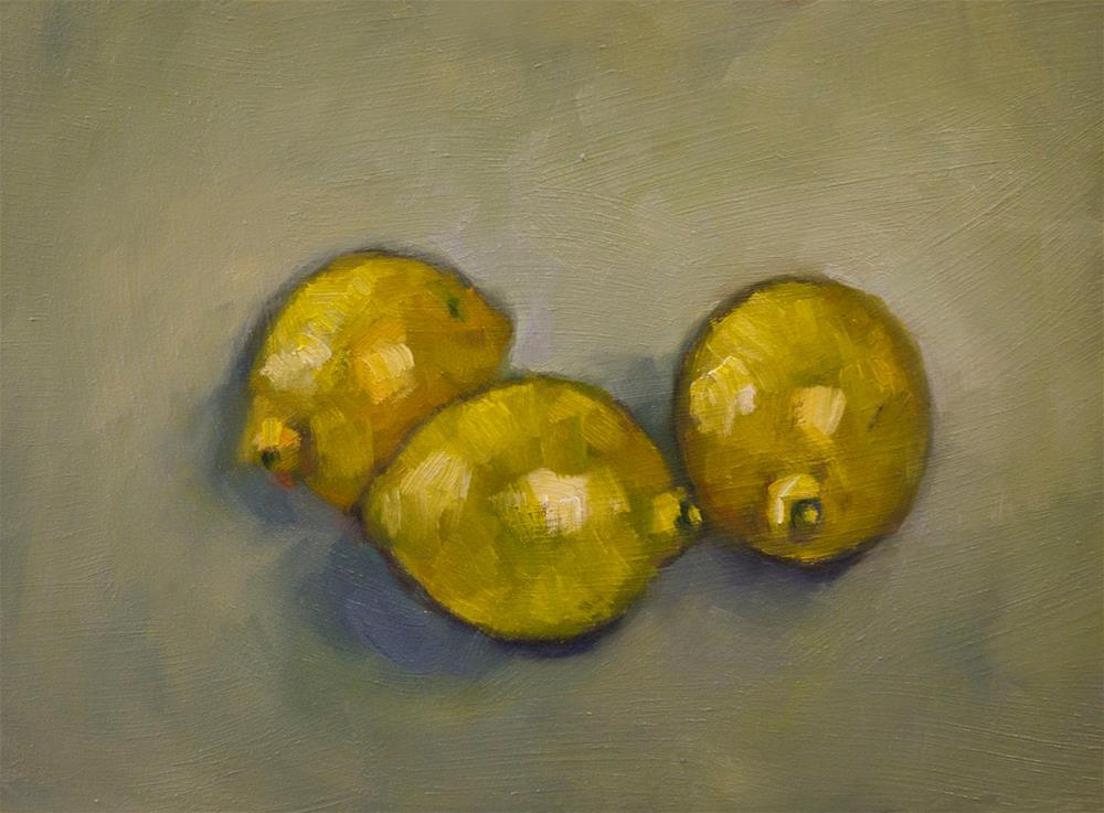 """Three Lemons"" original fine art by Andre Pallat"
