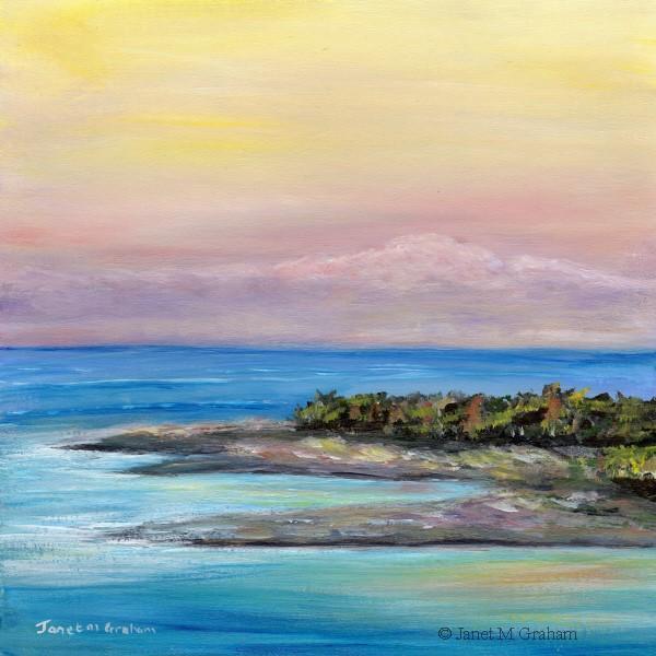 """""""Pumicestone Passage"""" original fine art by Janet Graham"""