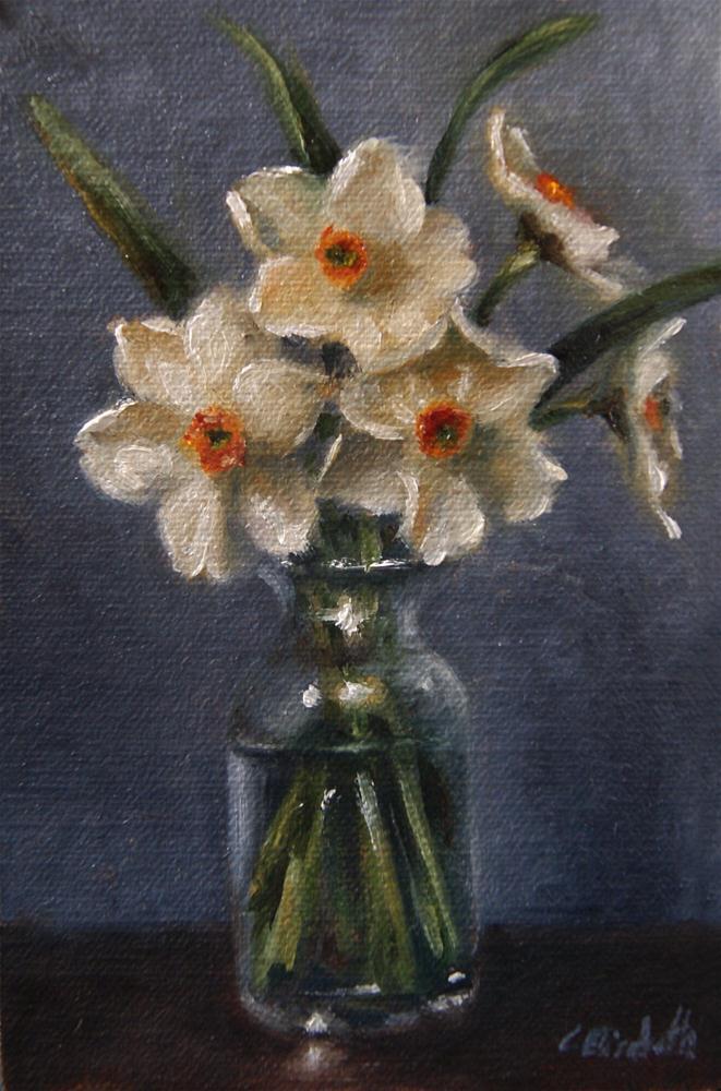 """""""Tazetta Daffodils Still Life"""" original fine art by Carolina Elizabeth"""