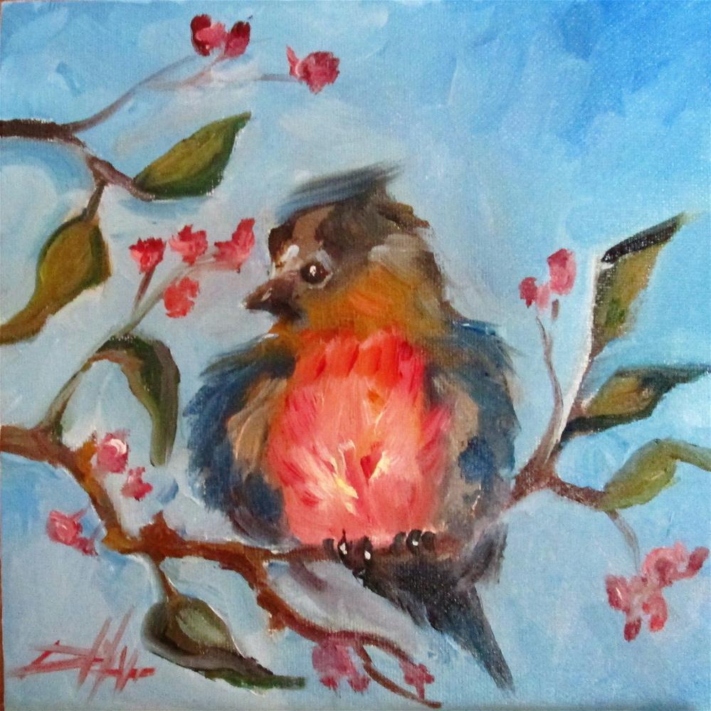 """""""Spring Bird"""" original fine art by Delilah Smith"""