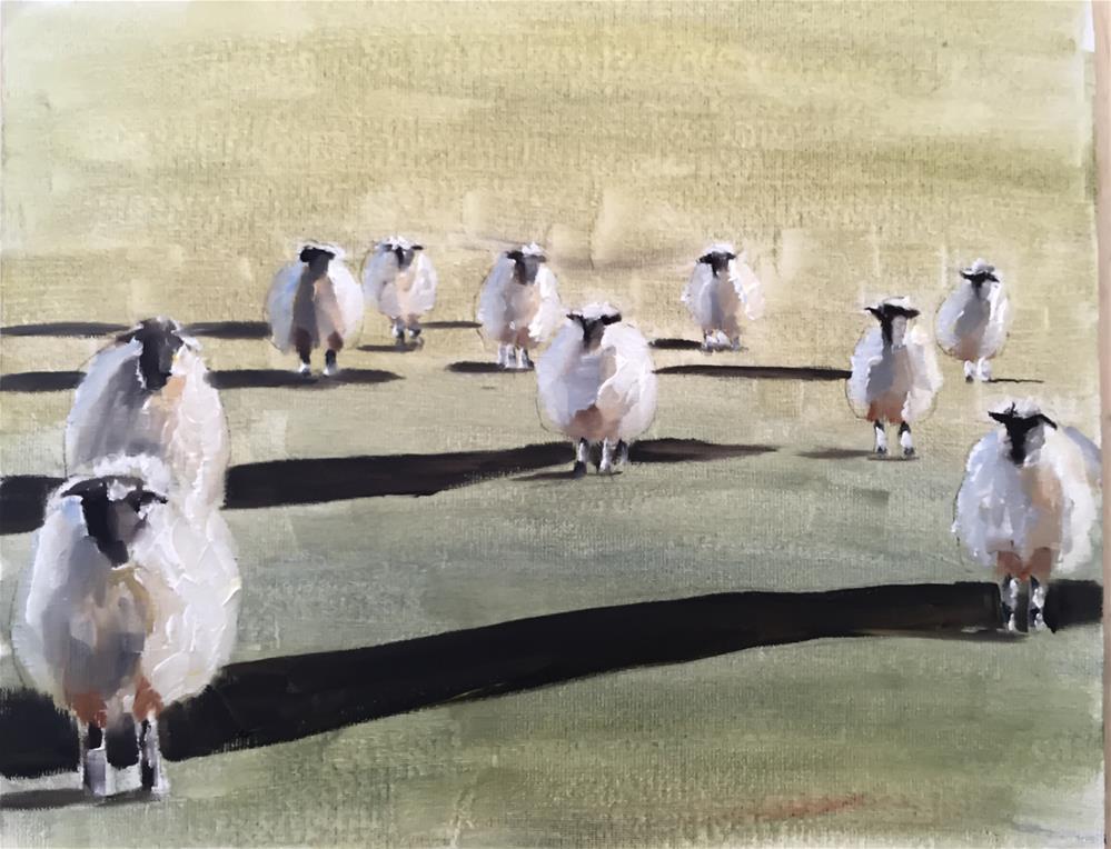 """Sheep"" original fine art by James Coates"