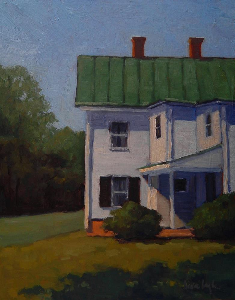 """""""White House in the Sun"""" original fine art by Lisa Kyle"""