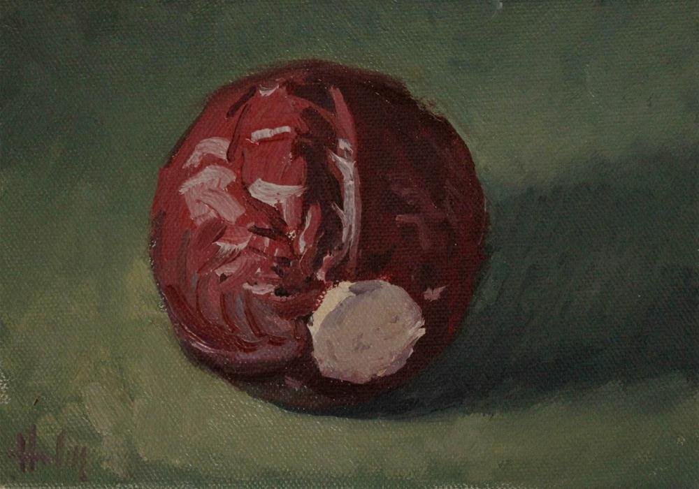 """Red Cabbage"" original fine art by Ski Holm"