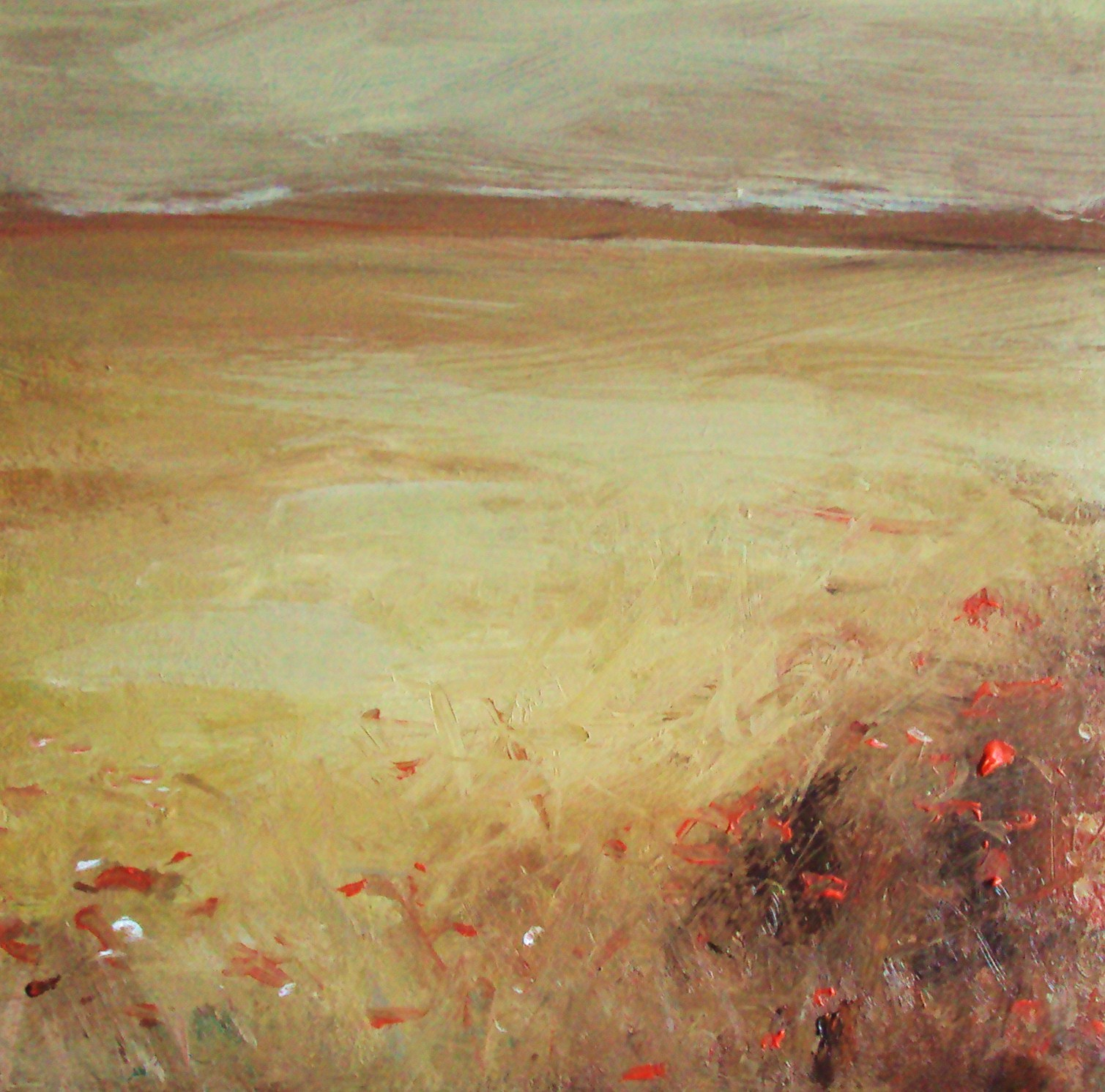 """Corn fields #2"" original fine art by Parastoo Ganjei"