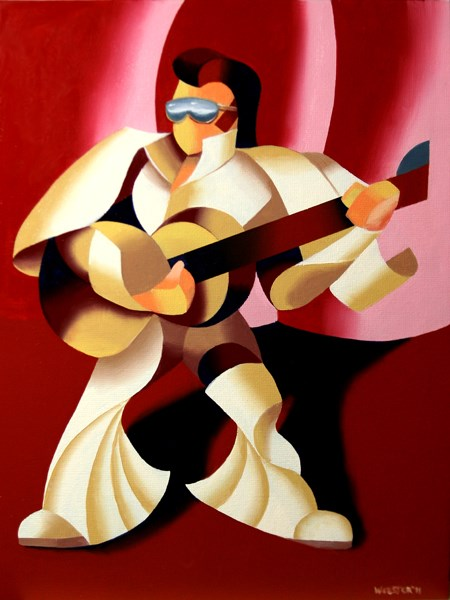 """Mark Adam Webster - Its Good to be the King - Abstract Geometric Figurative Oil Painting"" original fine art by Mark Webster"