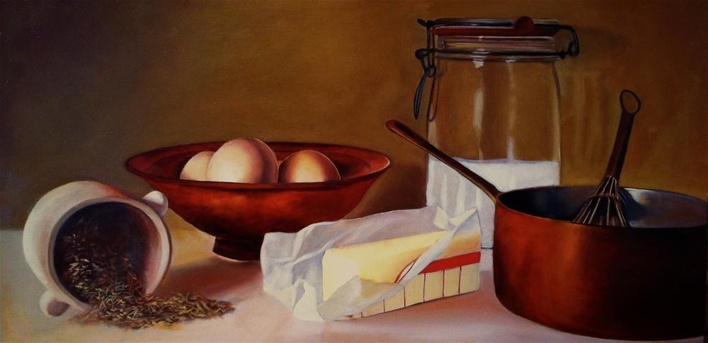 """Bearnaise Sauce"" original fine art by Patti Adams"