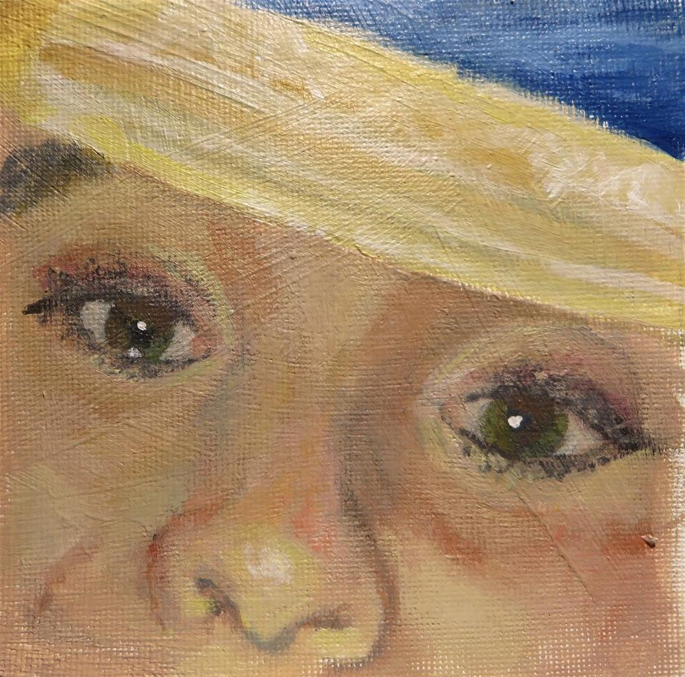 """""""761 All About the Eyes"""" original fine art by Diane Campion"""