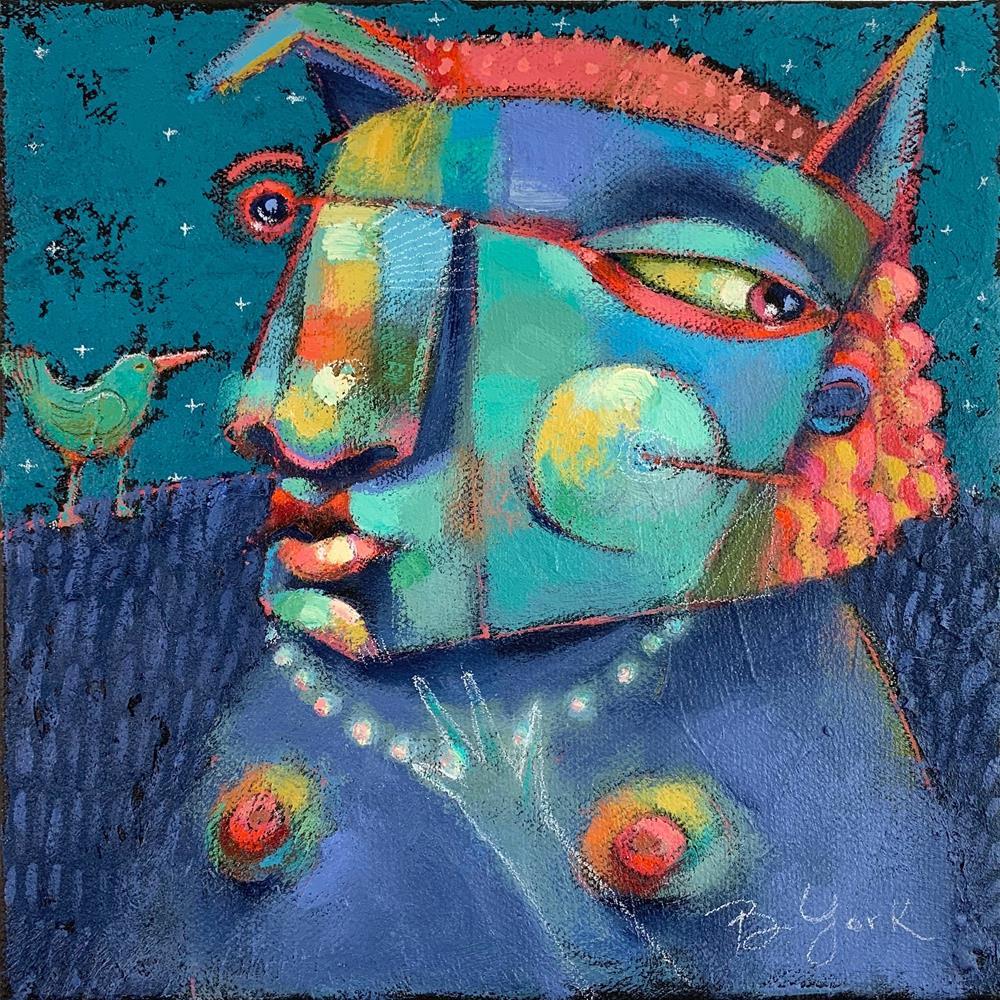 """St. Phoebe was a proud member of Cincinnati's PCA..."" original fine art by Brenda York"