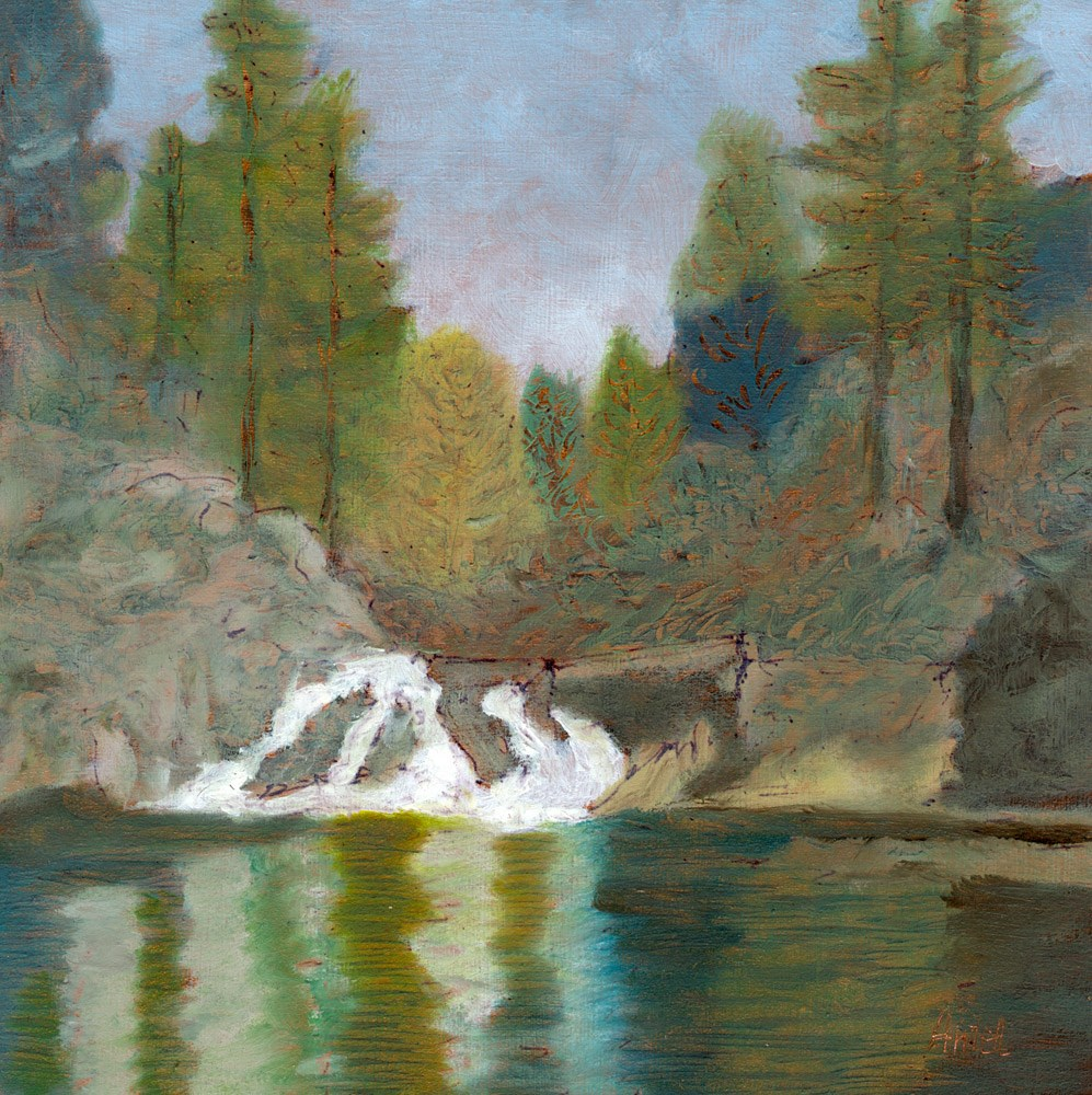 """Petersburg Alaska Waterfall"" original fine art by Rosemary Antel"
