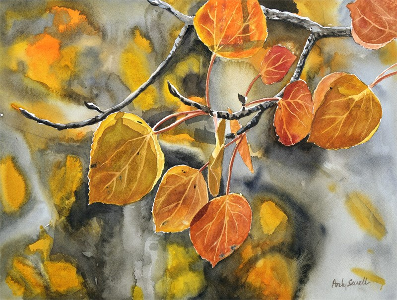 """""""October Orange"""" original fine art by Andy Sewell"""