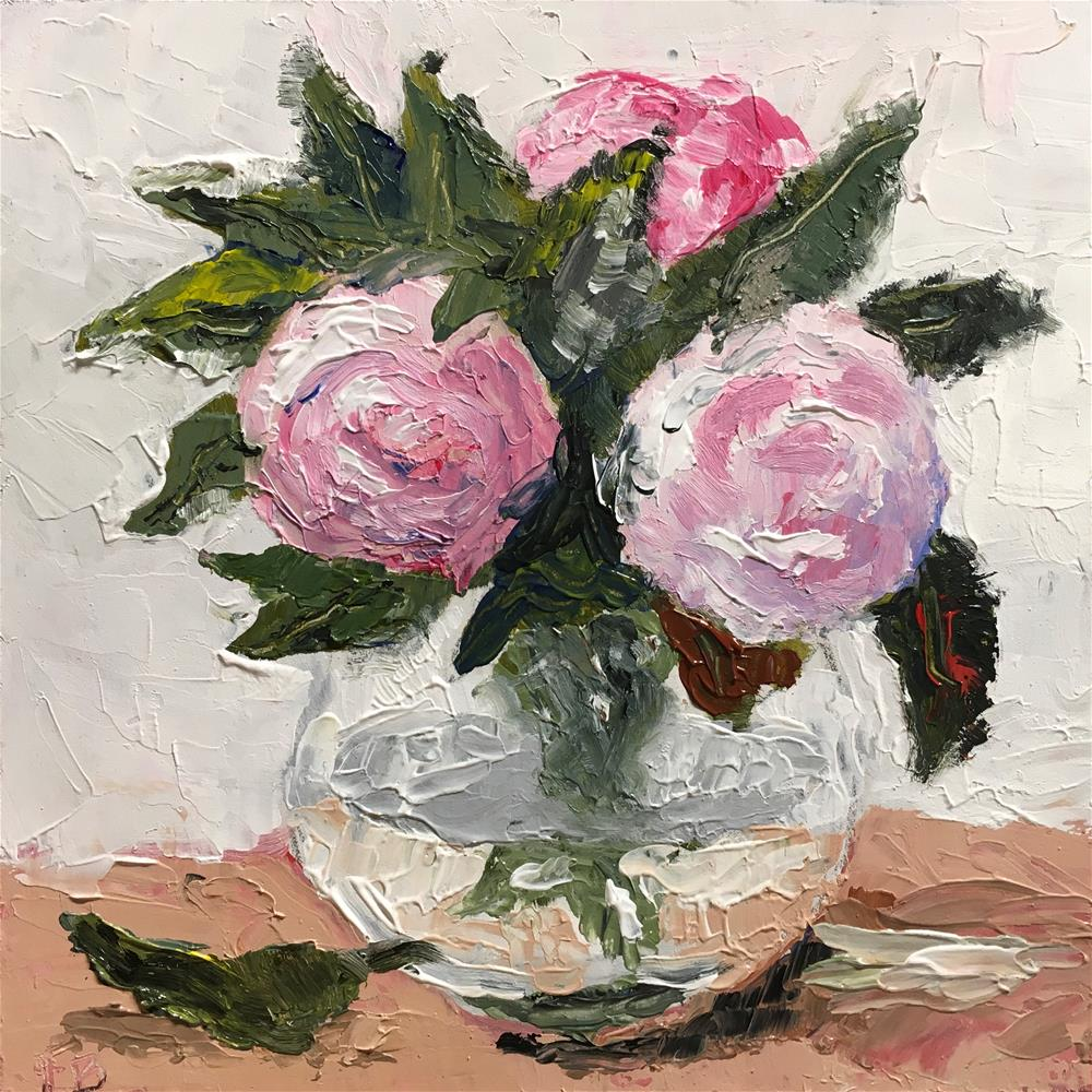 """""""267 Peony Pair"""" original fine art by Fred Bell"""
