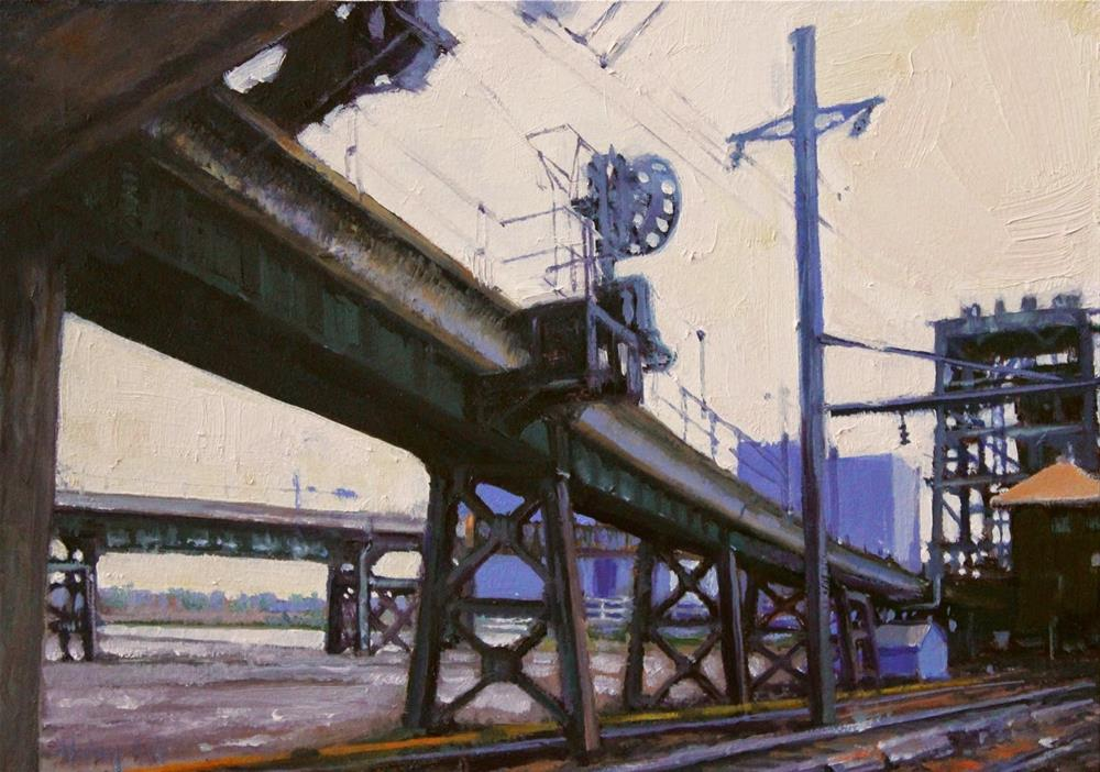 """Bridge System, Jersey  Style"" original fine art by Ski Holm"