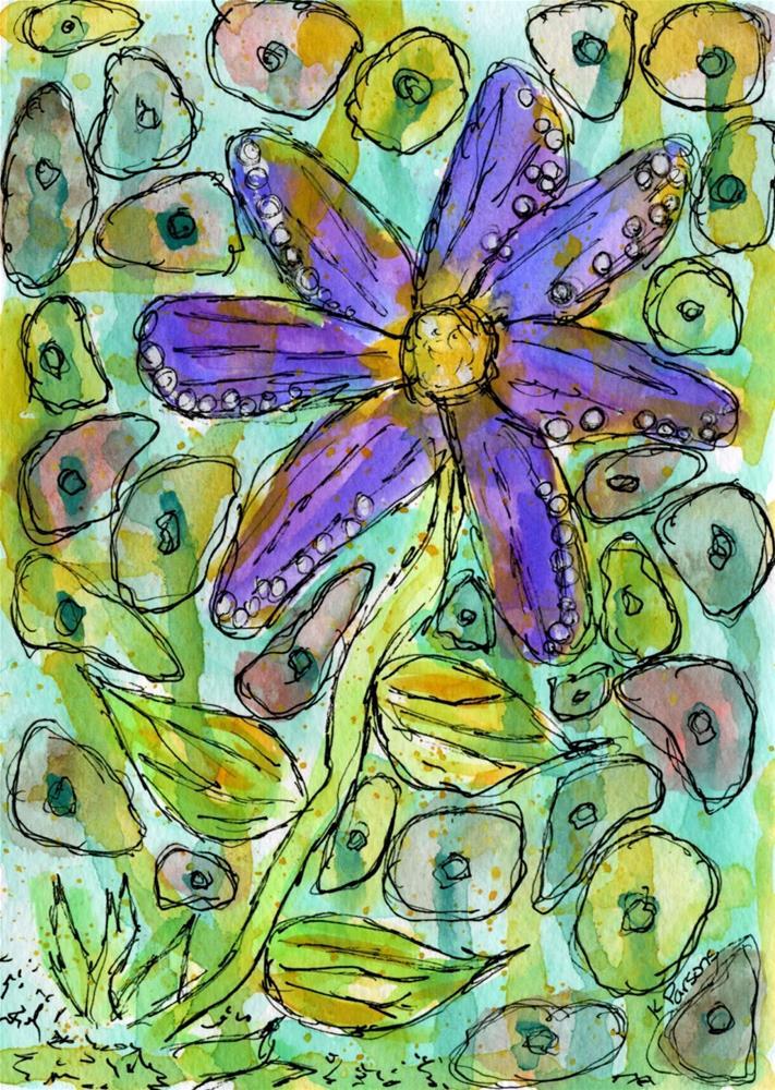 """""""Purple Loveliness"""" original fine art by Kali Parsons"""