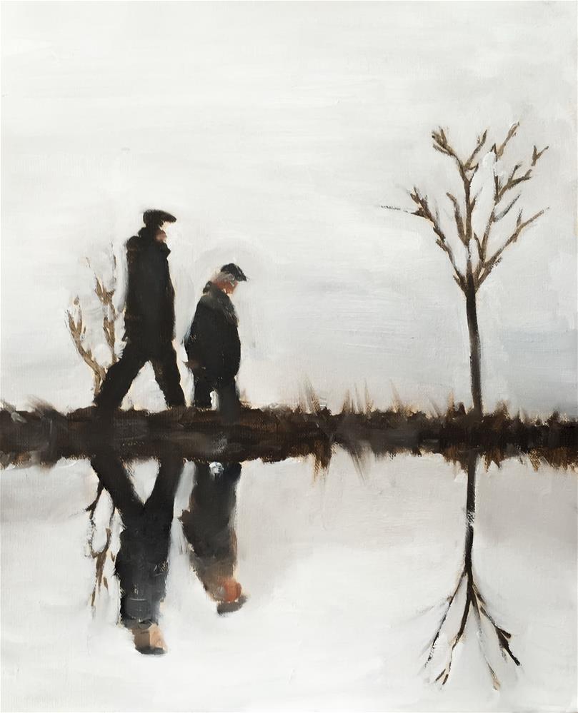 """Lake Walk"" original fine art by James Coates"