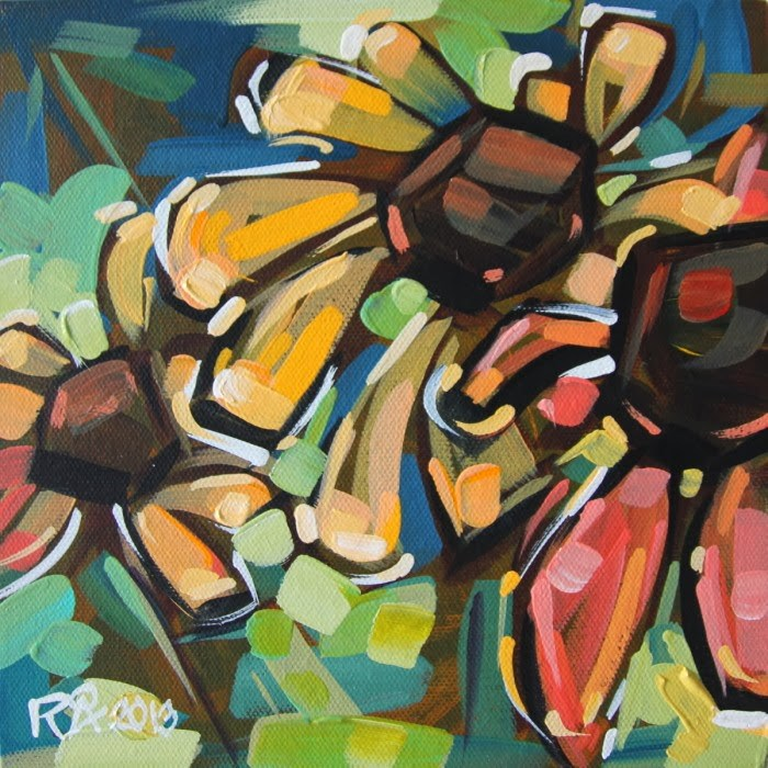 """""""Flower Abstraction 52"""" original fine art by Roger Akesson"""