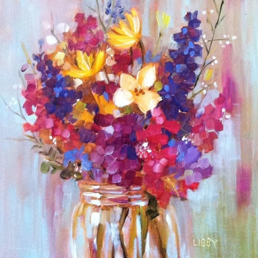 """Flower Dream"" original fine art by Libby Anderson"