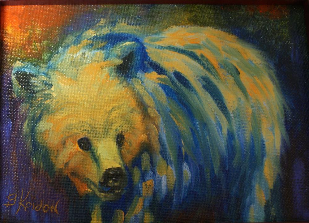 """Punky Bear"" original fine art by Beverly Koldon"