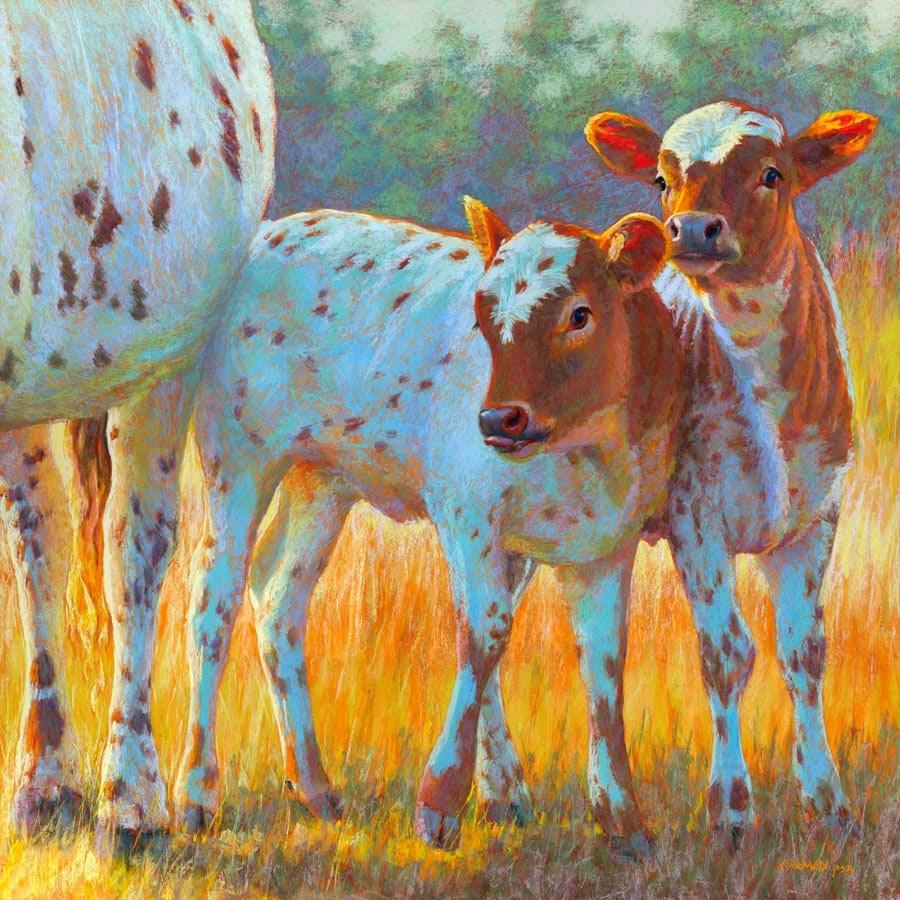 """""""Double Trouble"""" original fine art by Rita Kirkman"""