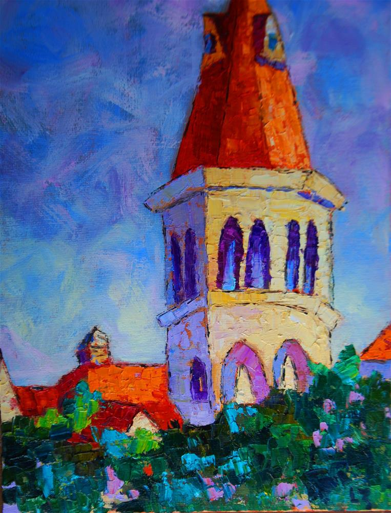 """Campus Tower"" original fine art by Liz Zornes"