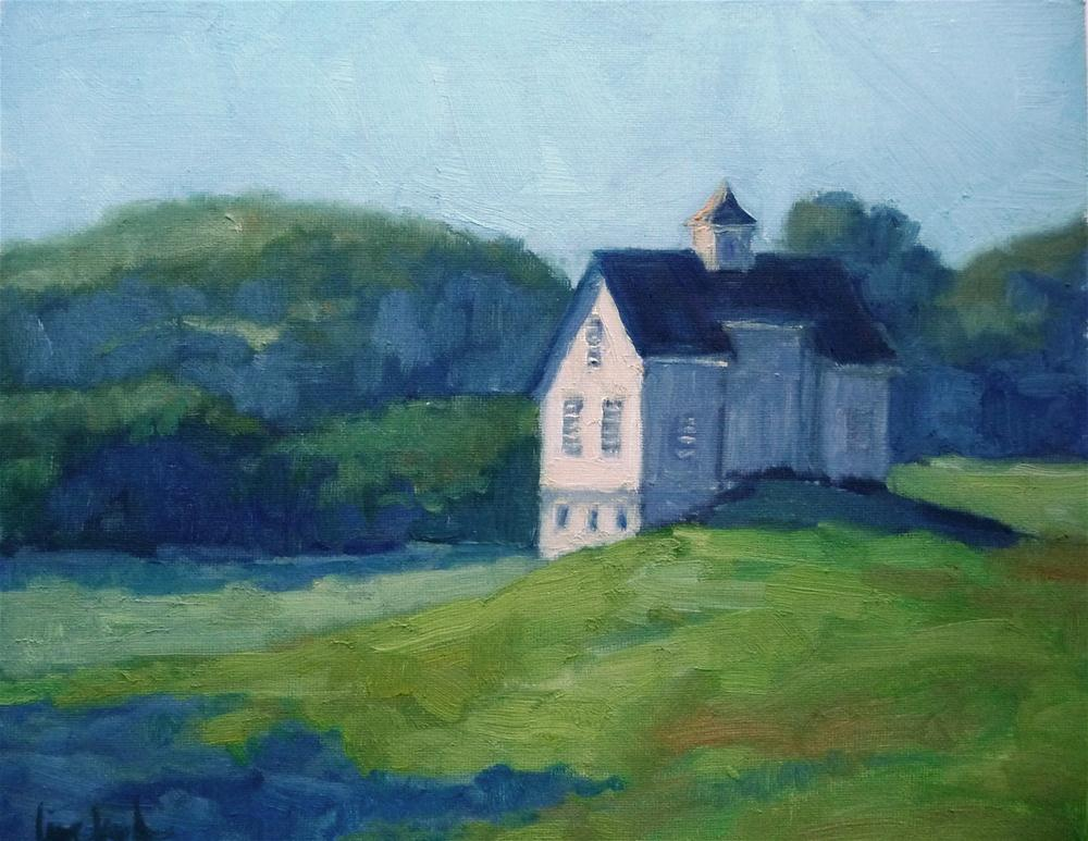 """Cromwell Valley Barn"" original fine art by Lisa Kyle"